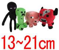 Wholesale Retail Minecraft JJ Enderman cow pink pig styles a Cute plush toy stuffed doll cm