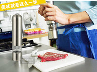 Metal pepper mill - Fashion Hot New Arrive Stainless Steel Electric Kitchen Tool Salt Pepper Mill Grinder muller
