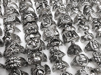 Band Rings gothic jewelry - Gothic Skull Carved Biker Mixed Styles Men s Anti Silver Rings Retro New Jewelry r0034