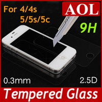Wholesale High Quality H D mm Premium Real Tempered Glass Film Screen Protector for iPhone c s s with Retail package