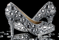 Wedding Heels High Heel 2014 Luxury Full crystal beaded silver lady's formal shoes Women's High Heels Bridal Evening Prom Party Wedding shoe Bridesmaid Shoes