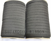 venda por atacado elastic tape-largura da fita 130meters trançado Elastic Cord.elastic 6 milímetros para o vestuário, notions.white costura e preto