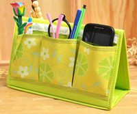 Linen Bag  1PC Multicellular Folding Desk Storage Box Tabletop Makeup Mobile Phone Container Organizer Bag Case Frame Pencil vase