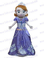 Mascot Costumes People Occupational Brand New Custom made Deluxe New Sofia the First Mascot Costume, Sofia Mascot 100% Real Pictures! with helmet and mini fan