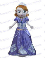 Mascot Costumes Unisex Costum Made New Arrival Deluxe New Sofia the First Mascot Costume, Sofia Mascot 100% Real Pictures! with helmet and mini fan