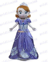 Mascot Costumes Unisex Costum Made Hot Sale New Deluxe New Sofia the First Mascot Costume, Sofia Mascot 100% Real Pictures! with helmet and mini fan