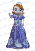 Mascot Costumes Unisex Costum Made New Arrival Deluxe Sofia the First Mascot Costume, Sofia Mascot Costume 100% Real Pictures! with helmet and mini fan