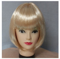 Wholesale Students hair colorful BOB hair students hair wig hair color fans Dance performances general head type design