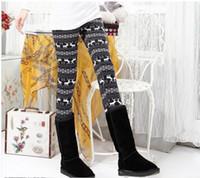 Wholesale 2014 maternity leggings charcoal plus velvet thick warm winter snowflakes fawn striped pants pregnant women leggings
