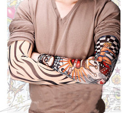 Wholesale tattoo Sleeves Outdoor radiation protection arm Leg tattoo designs personal tattoo cycling sleeve sunscreen