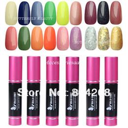 Wholesale 2014 Hot Colors Nail Art Tips Glitter Color LED Lamp ml pc Soak Off UV Gel Polish