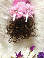 Wholesale Korean style temperament bowknot wig curl headress children hair wigs