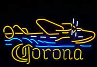 beer lamp - new corona plane real glass neon beer signs neon signs pub bars neon light lamp quot x15 quot