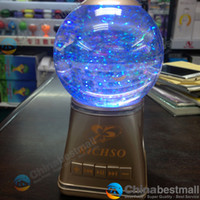 Wholesale New Richso Colorful bluetooth Water ball Speakers Music Player micro SD TF Card USB mini for Iphone Laptop Cell phones PC