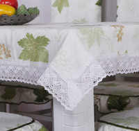 Wholesale spring and summer table cloth green material two colors for choose quality guaranteed