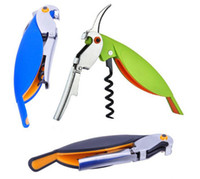 Stainless Steel Bottle Openers ECO Friendly Fashion Hot Parrot Bottle Opener Whit Hippocampal Knife Stainless Steel Corkscrew For Cans Jars Red Wine Beer Bottles Openers BAR Tools
