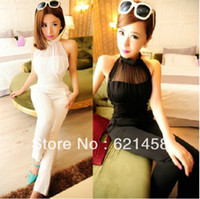 Chiffon Sleeveless Long 2013 Super Fashion Star Sexy Women Jumpsuit,Elegant Bodysuit Rompers For Ladies,Sleeveless Strapless Jumpsuits