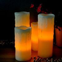 Wholesale On Sale Flameless Moving Wick Led Candle Manufacturer led flashing candle