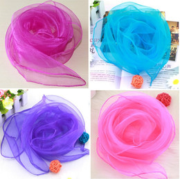 Wholesale New Gradient Solid Performances Show a Small Nursery Small Square Scarf Candy Color Scarf Scarves YT002