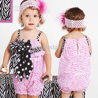 Wholesale baby girl rompers Harness climbing clothes girls summer clothing