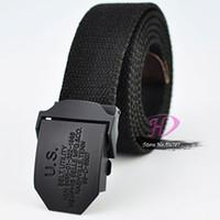 Wholesale Special offer men Webbing Belt thicking canvas Tactical Belt Fashion Militry belts