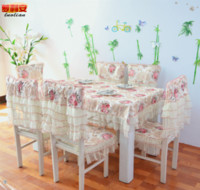 Wholesale dinning textile Spring and Summer lace material new home used table cloth sale on chair cover