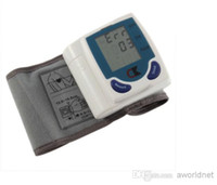 Wholesale Portable Home Digital Wrist Blood Pressure Monitor Heart Beat Meter Sphygmomanometer with LCD Display