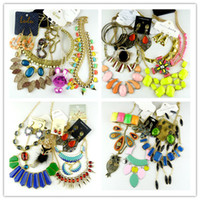 Wholesale Jewelry Sets Mixed jewelry Wedding Statement Necklaces Pendant Necklaces Bracelets Bangle Earrings Rings Bohemian Women Accessory By Weight