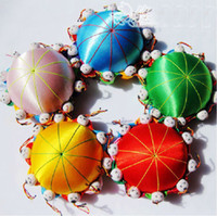 Wholesale cheap Chinese HANDMADE Silk pin Cushion with cute kids