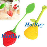 Wholesale Creative Teacup Bag Pear Strawberry Herbal Tea Red Infuser Teapot Strainer Filter Silicone Bag New