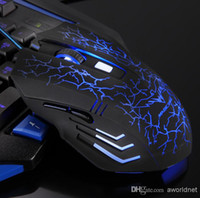 Wholesale HAVIT DPI Adjustable Optical D Button blue light Wired Gaming Game Mice USB Mouse for Laptop PC