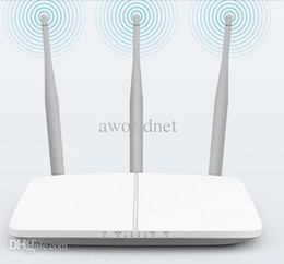Wholesale Wireless router three antenna m wall Wifi Internet cable