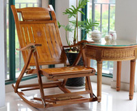 Wholesale Bamboo rocking chair Bamboo chair Leisure chair rocker chair recreational balcony folding
