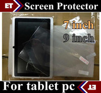 Wholesale DHL Clear Screen Protector Guard for Allwinner A13 A23 Q88 inch inch Tablet JF1