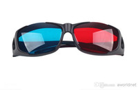 Wholesale Universal type D glasses Red Blue Cyan D glasses Anaglyph NVIDIA D vision Plastic glasses