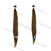 "Brazilian Hair Ombre Color Straight Free Shipping,retail, 50pcs Flat Tip Remy Human Hair Extension,18""   20"" Color#4, 5484"