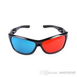 Wholesale Red Blue D Glasses Plastic Framed Plasma TV Movie Dimensional Anaglyph D Vision Glasses