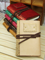 Wholesale 6 Colors available Vintage Soft Leather Journal Classic Binder Spiral Diary Book Loose leaf Notebook Gift