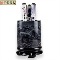Wholesale Chinese brush pot with Terra Cotta Warriors Collections inventive gift resin product Home Decorations