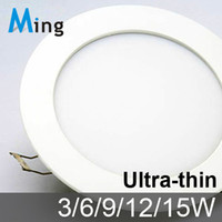 Wholesale Slim design W W W W W LED ceiling embedded Grille slim round panel light