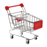 Grow Bags Hand Trolley Steel Free Shipping Mini Supermarket Shopping Handcart trolley Phone Holder Baby Toy free shipping
