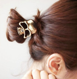 Wholesale Styles Women New Metal Pearl Crystal Hair Cuff Band Ponytail Holder Jewelry