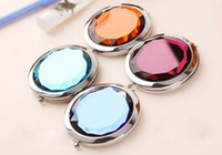 best stock tools - Stock Ready Round Crystal Lovely Cosmetic Mirrors Pocket Mirror Professional Makeup Tools Best Gift for wedding favor party By DHL