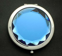 Wholesale High quality Round Crystal Cosmetic Mirrors Small Hand Lovely Pocket Mirror Professional Makeup Tools Best Gift for Women