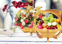 Wholesale Basket For Fruit Supply Of Synthetic Folding Bamboo Basket Craft Baskets