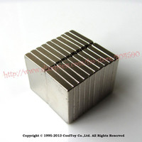 Wholesale 20 Pack F amp P Craft Model Strong Industrial Rare Earth NdFeB Block Magnet Neo Neodymium N35 Magnets x x mm