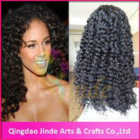 #1,#1B,#2,#4 Curly Indian hair 2014 top selling!Cheap stock human hair natural curly lace front wigs free shipping