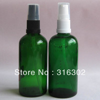 Plastic Yes Glass Free shipping, 200 lot 100ml amber essential oil bottle with plastic spray,lotion pump for cosmetic packaging