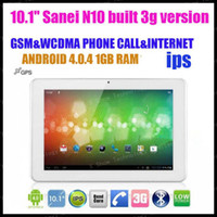 "4.8 inch Dual Core Android 4.0 discount shiping 10.1"" Sanei N10 bulit 3G Google Android 4.0.4 Dual Core GPS WIFI Tablet PC"