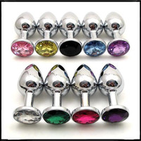 adult novels - stainless steel chromed anal butt plug metal sex anal toy with jewel novel gift adult sex toys